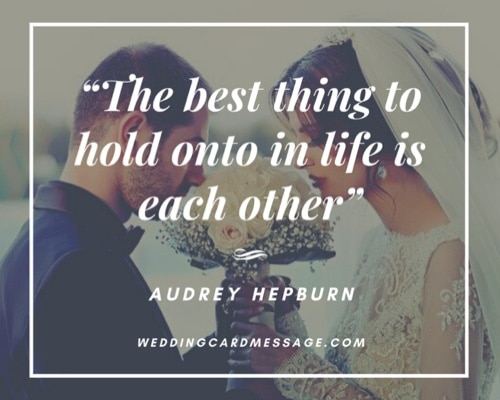 Audrey Hepburn wedding anniversary quote