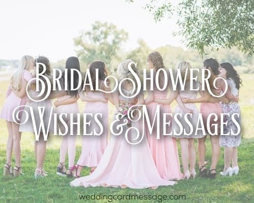 bridal shower wishes and messages