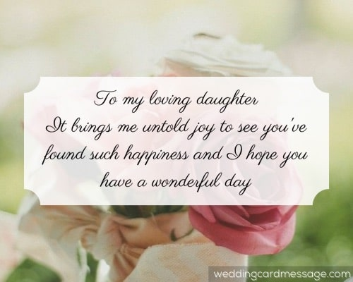 daughter bridal shower message