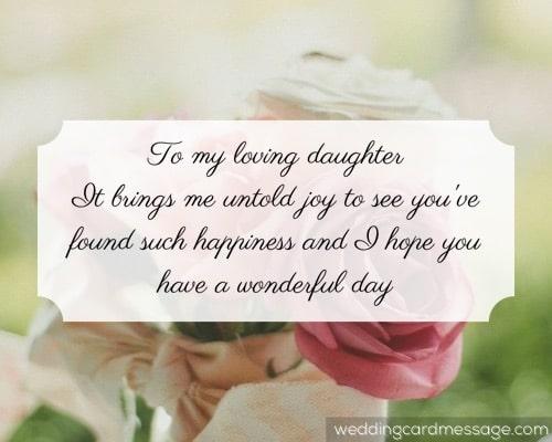 daughter bridal shower message