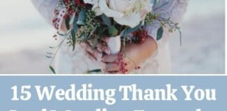 wedding thank you card wording examples