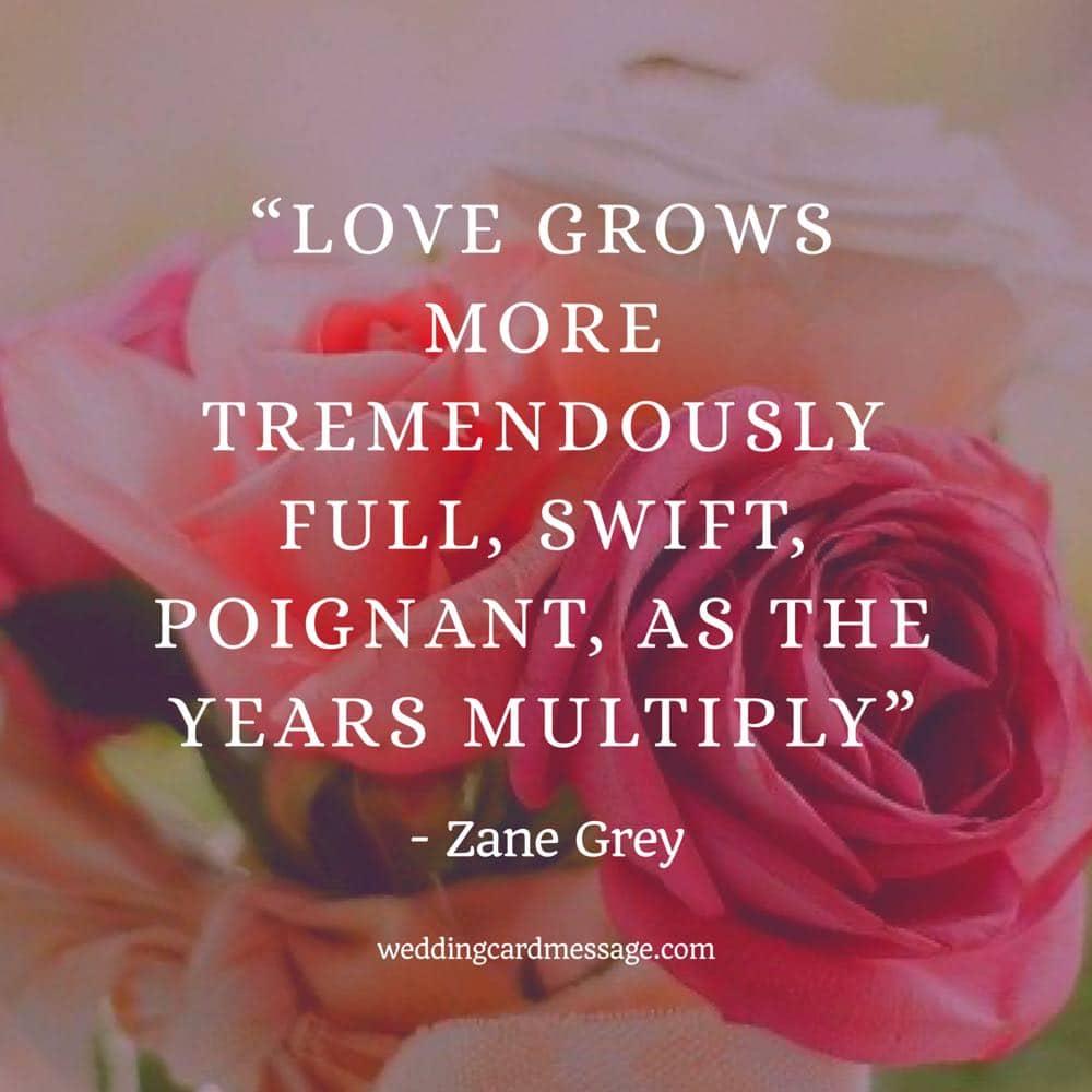 Zane Grey wedding anniversary quote