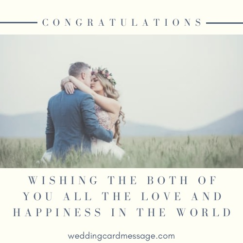 congratulations on your marriage wishes