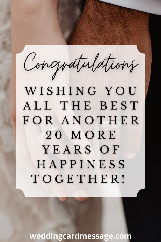 Happy 20th wedding anniversary wishes