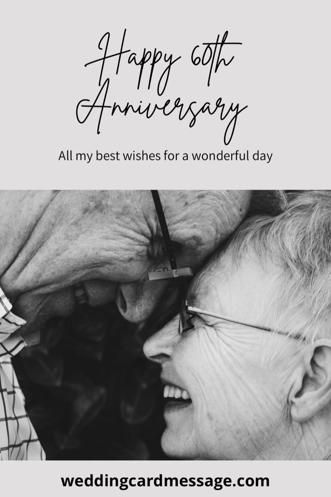 Happy 60th anniversary wishes