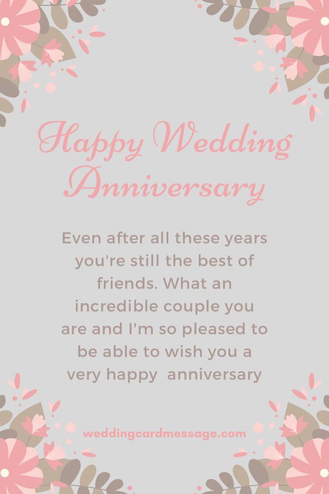 happy wedding anniversary quote message