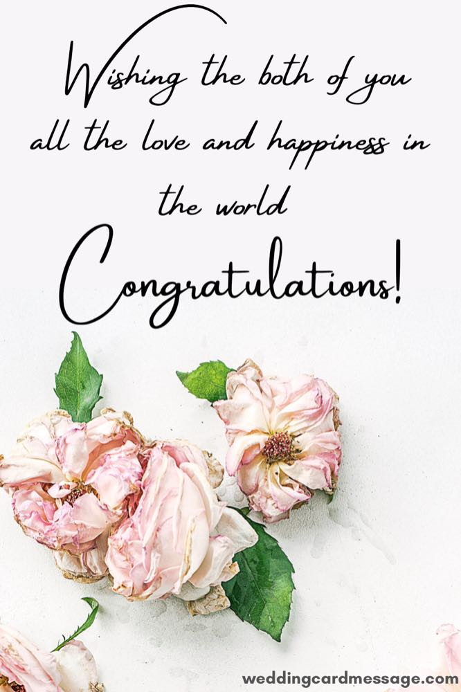 love wedding congratulations message