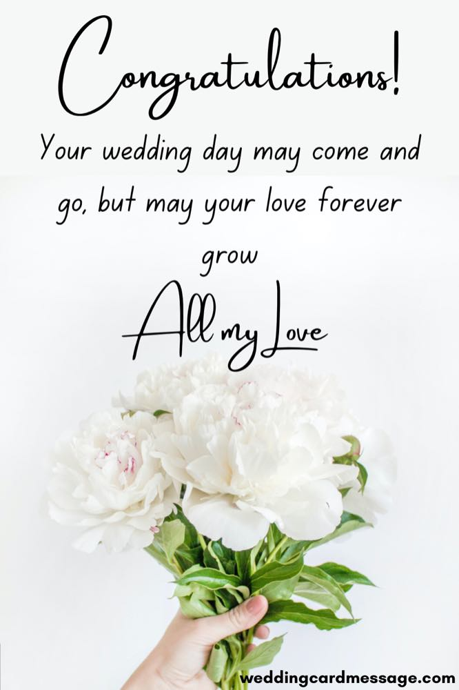 May your love grow wedding congratulations