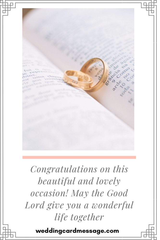 religious wedding congratulations message