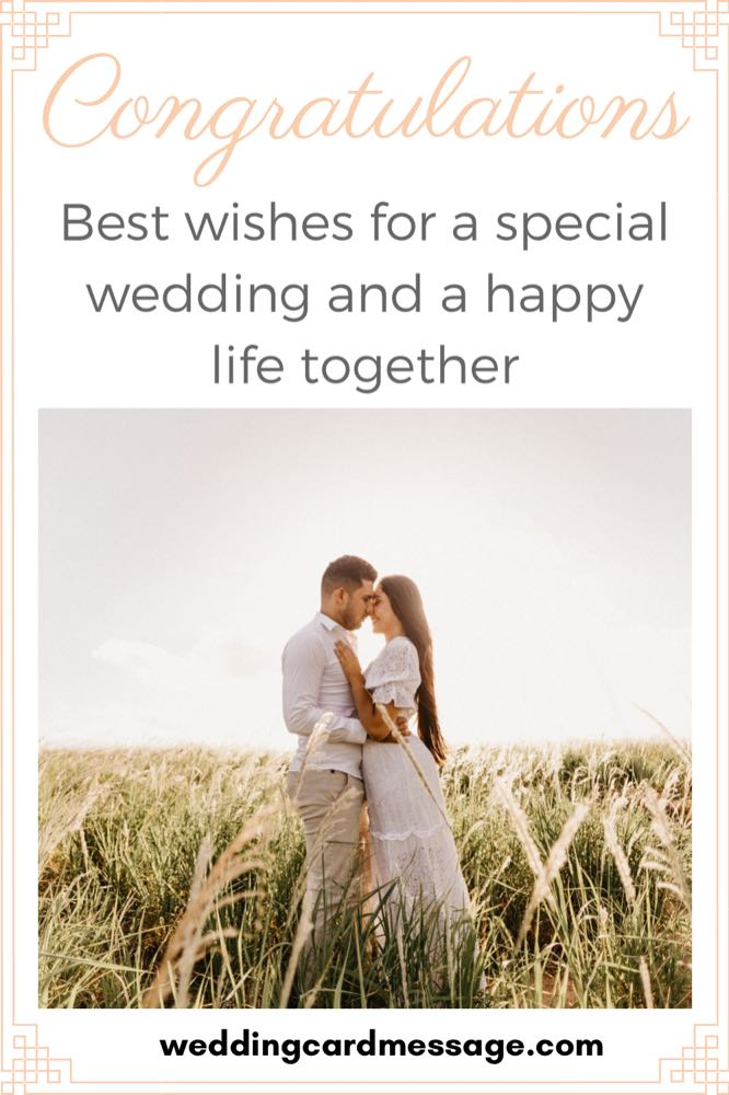 wedding best wishes message