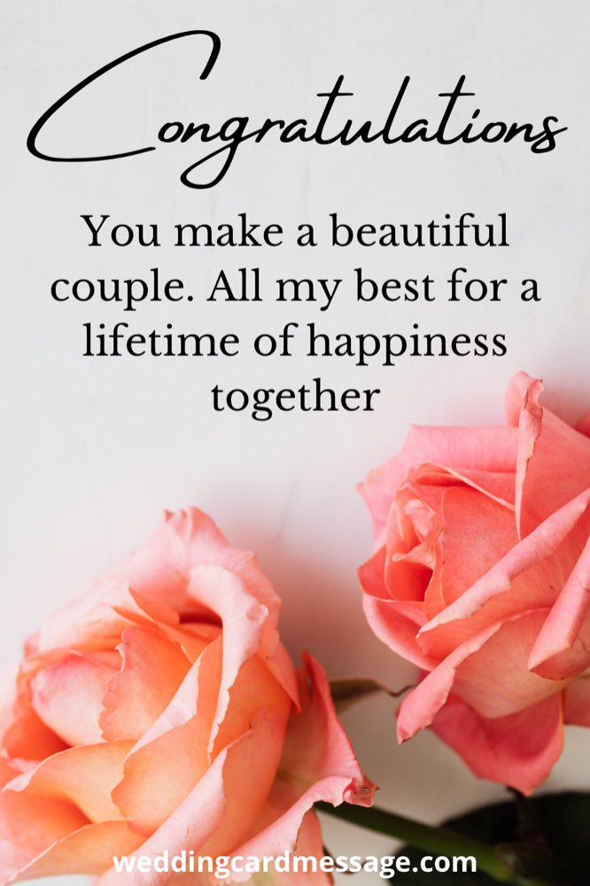 wedding congratulations message to a beautiful couple