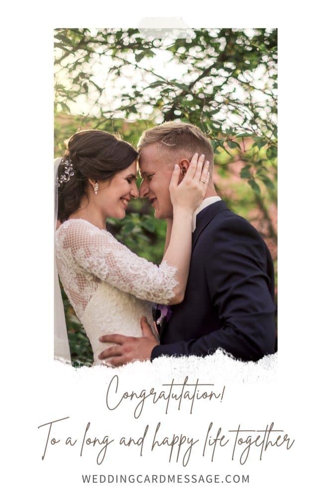 wedding congratulations message