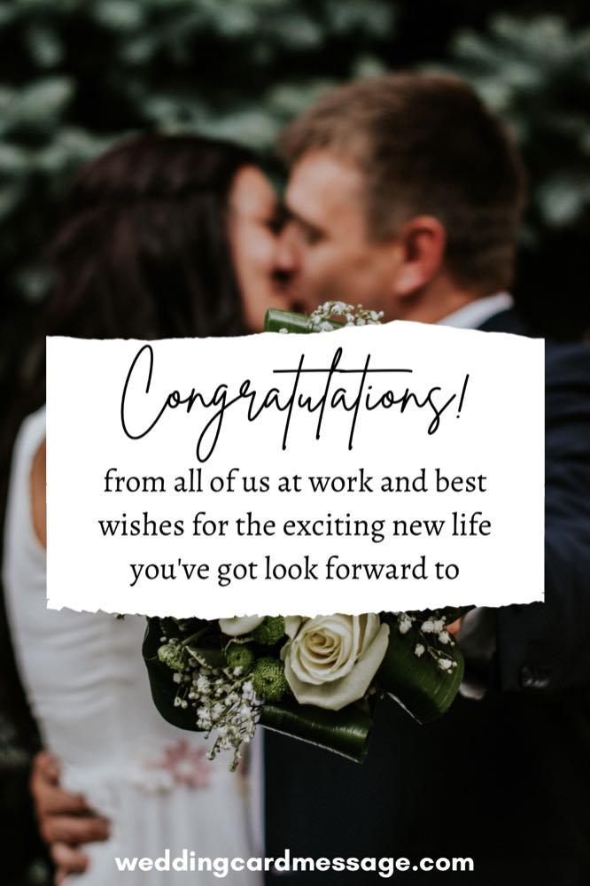 wedding message for a colleague