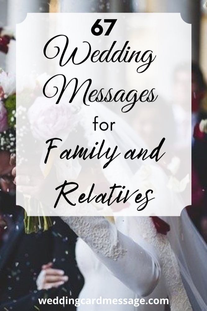 wedding messages for family and relatives