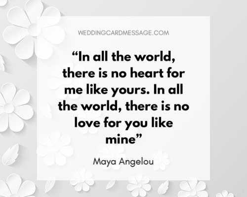 wedding quote love in the world maya angelou