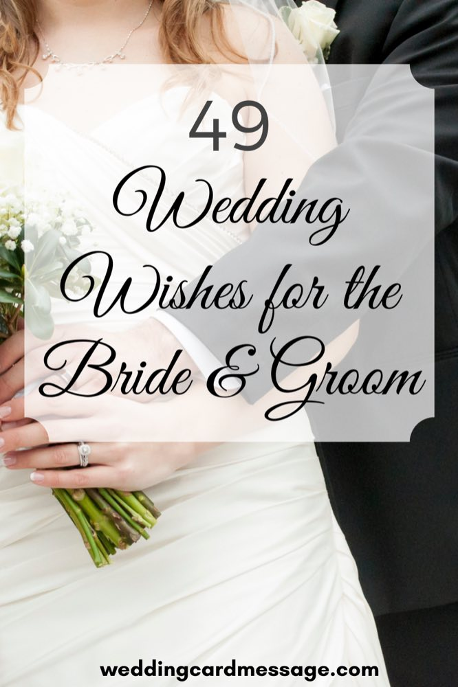 wedding wishes for the bride and groom Pinterest