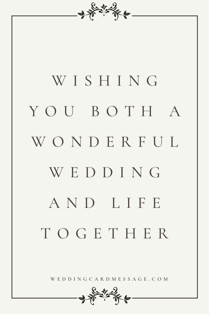 wedding wishes message to bride and groom