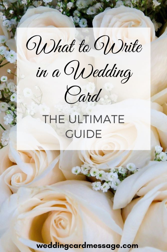 what to write in a wedding card Pinterest