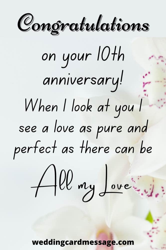 10th anniversary wishes congratulations