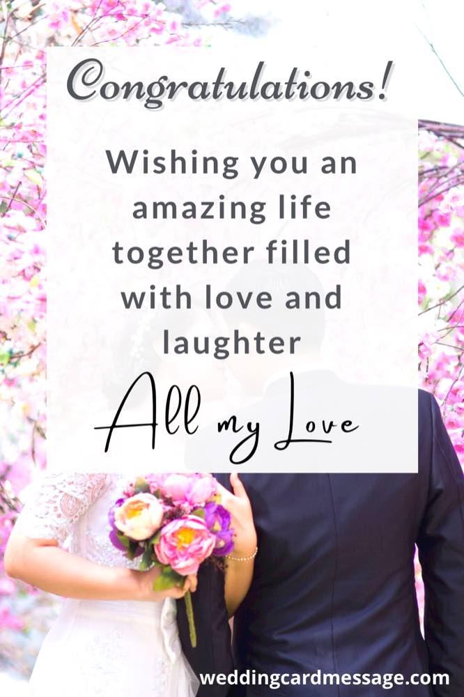 wedding congratulations message for cousin