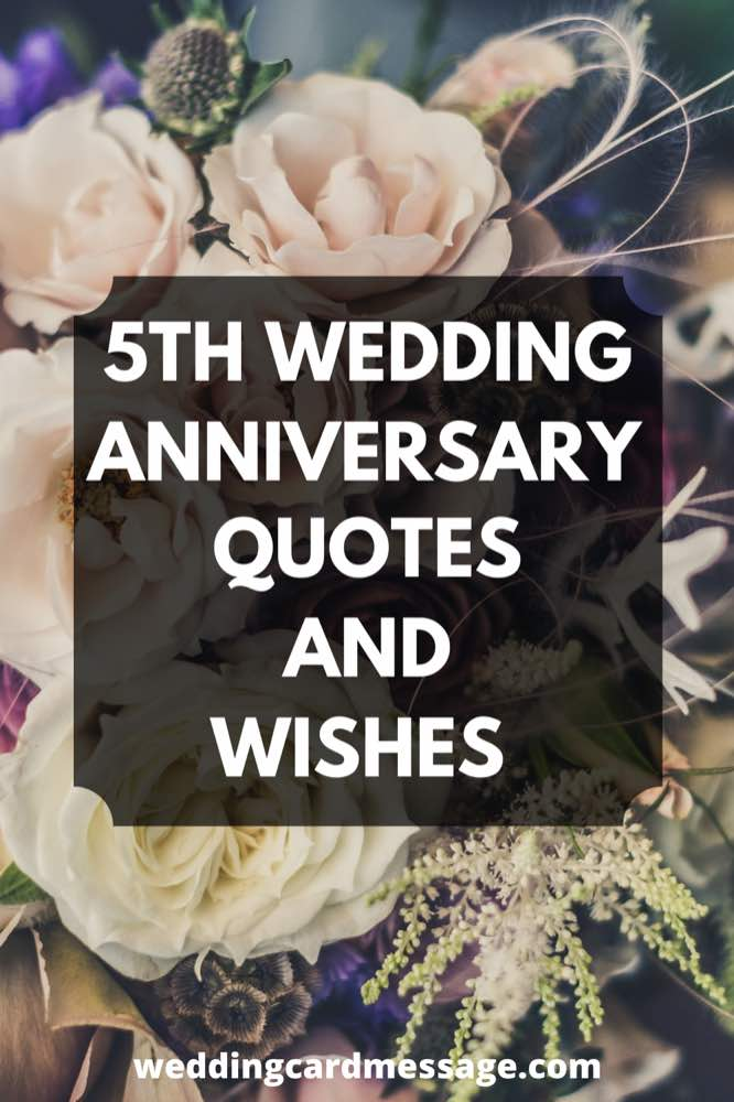 happy 5th wedding anniversary quotes and wishes