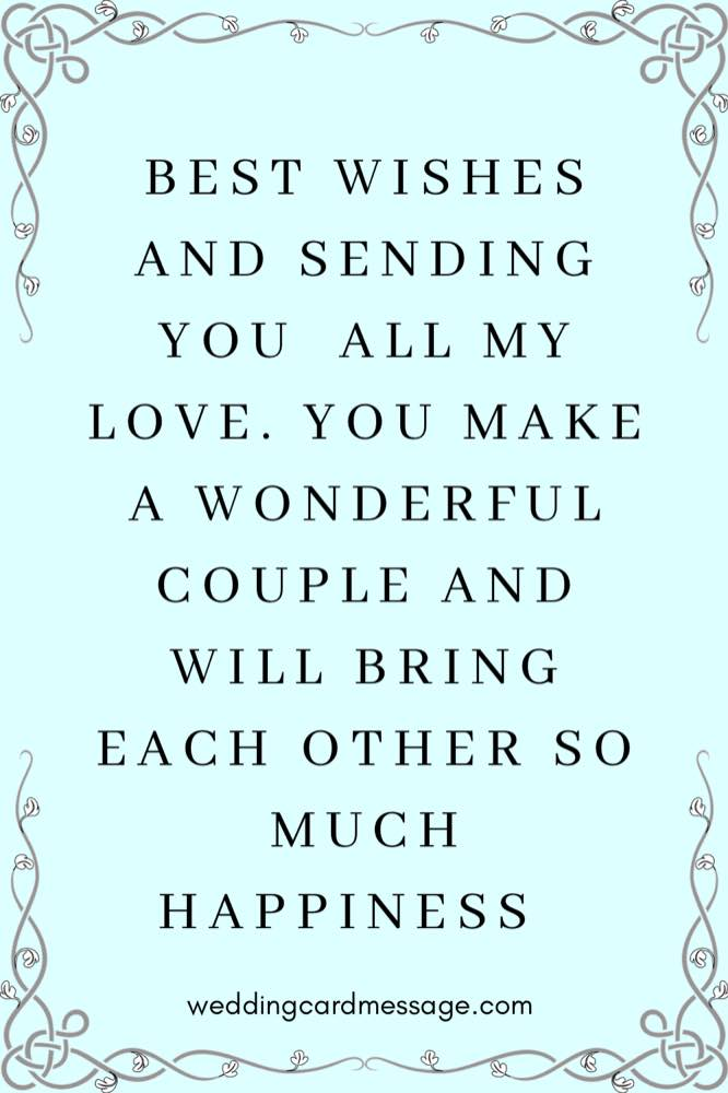 wedding message for sister