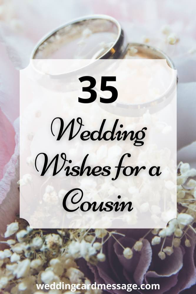 wedding wishes for cousin