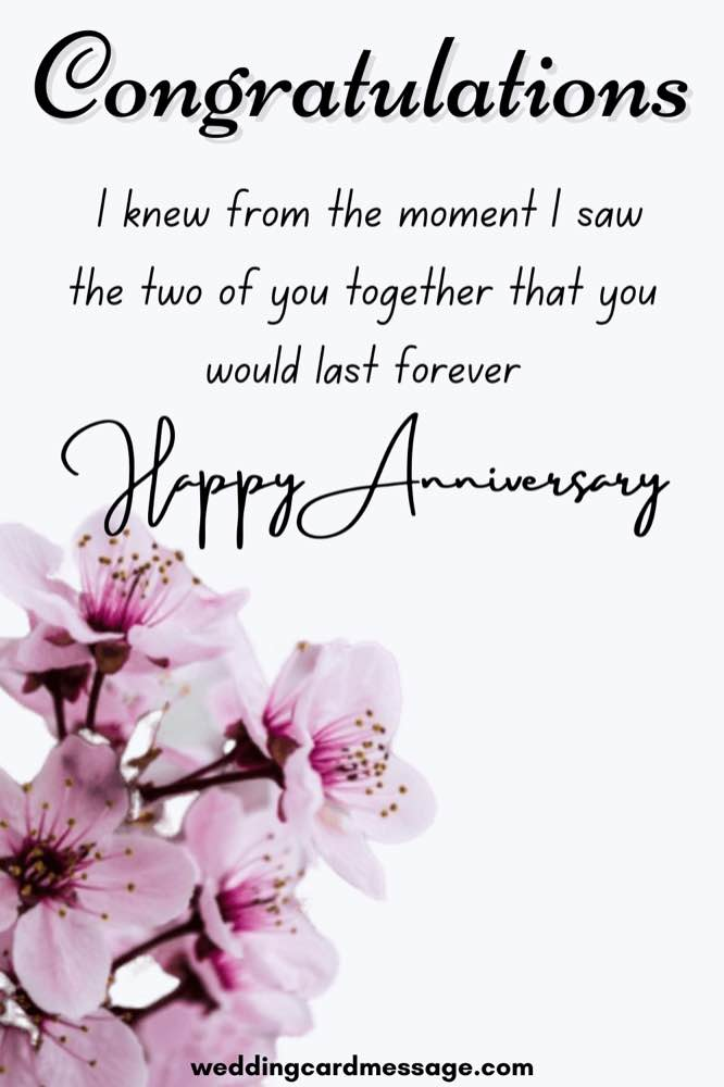 Happy anniversary for cousin