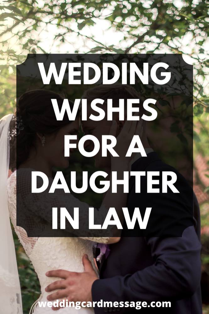 wedding wishes for a daughter in law