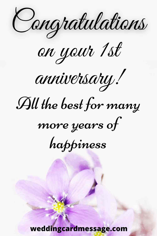 congratulations and happy anniversary couple