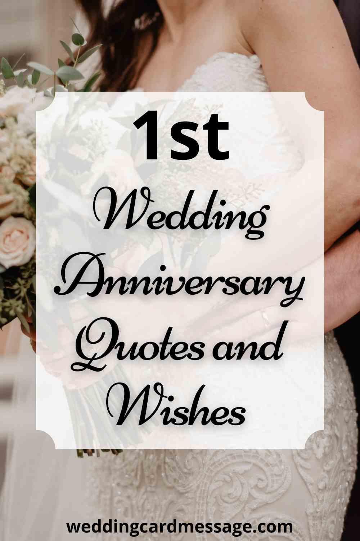 happy 1st wedding anniversary quotes pinterest