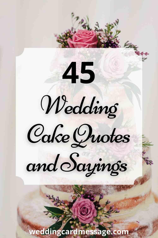 wedding cake quotes pinterest
