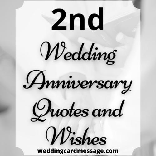 Happy 2nd Wedding Anniversary Wishes