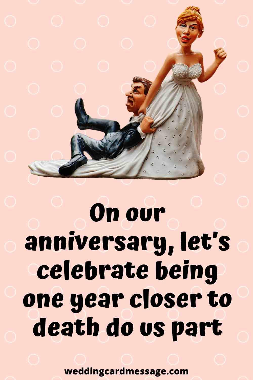 funny wedding anniversary quote