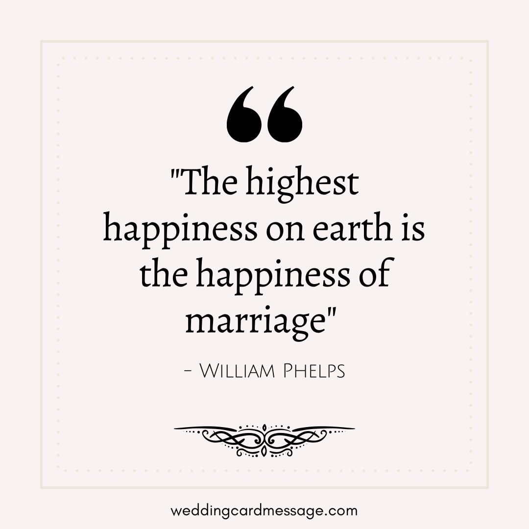 happiness of marriage quote