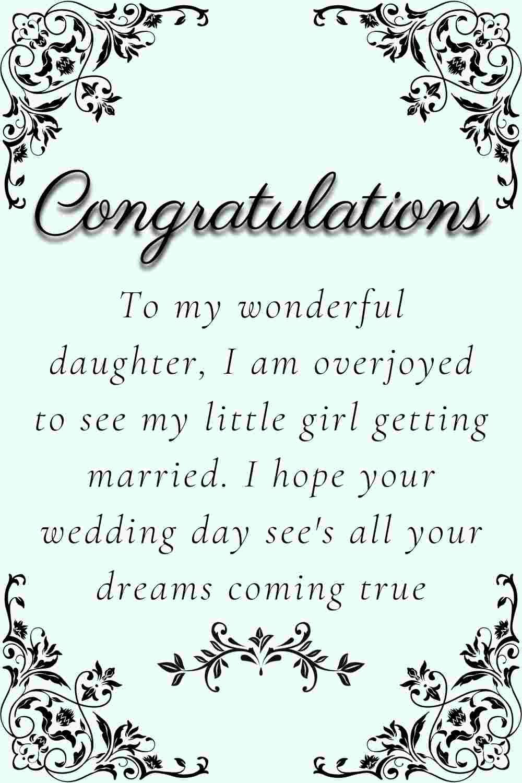 heartfelt wedding wishes for daughter
