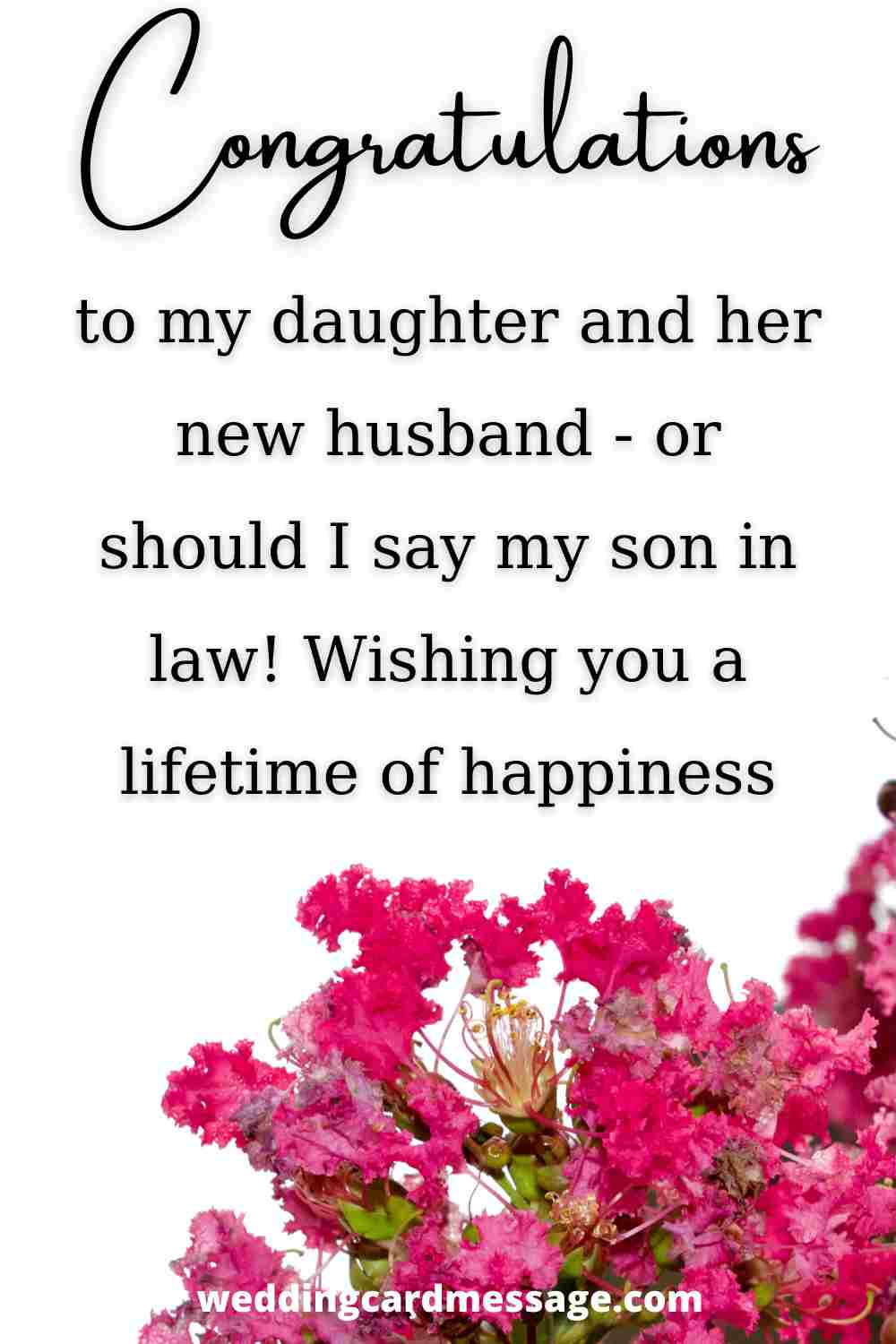 wedding message for son in law