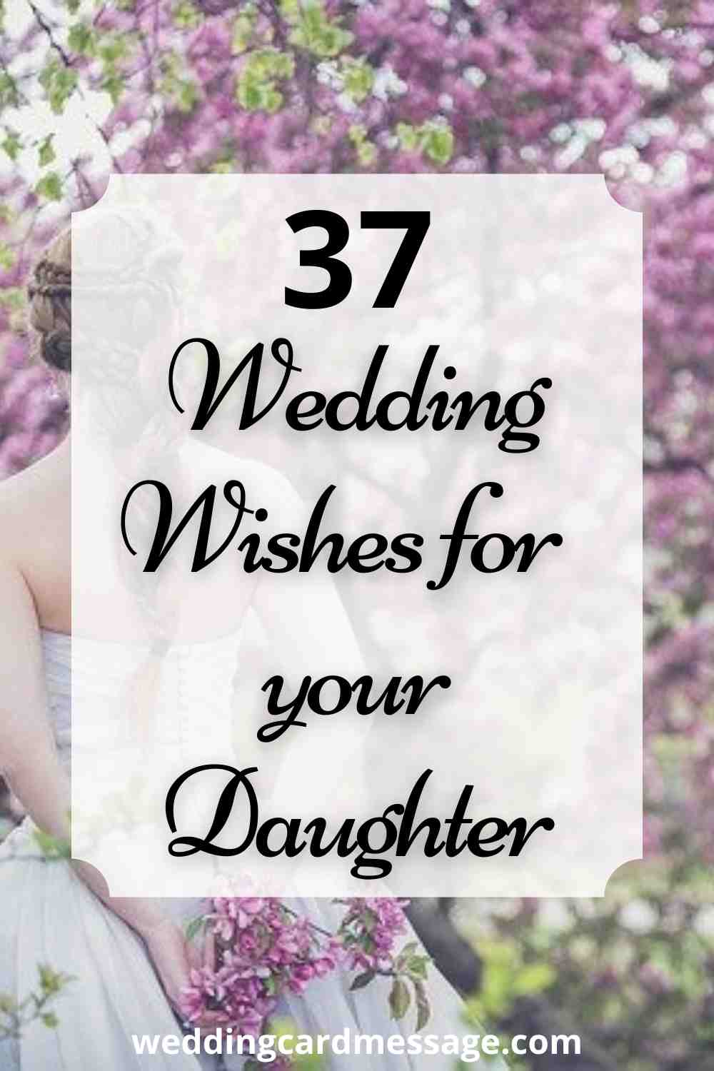 wedding wishes for daughter Pinterest
