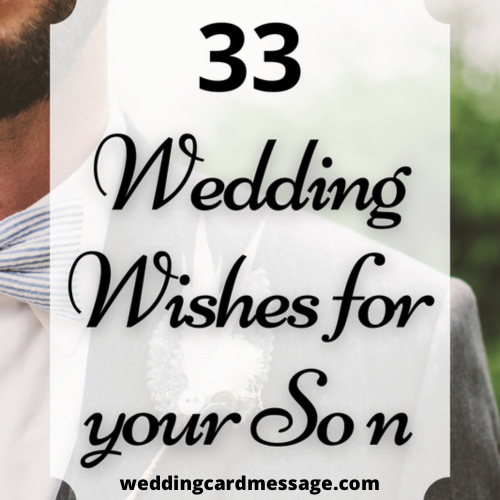 wedding wishes for son