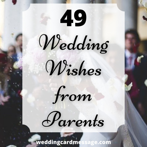 wedding messages from parents